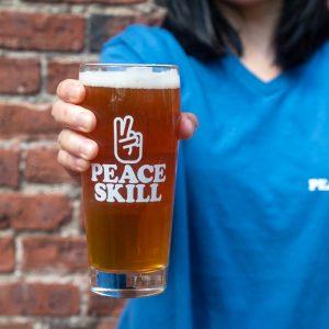 Peaceskill 16oz pint glass