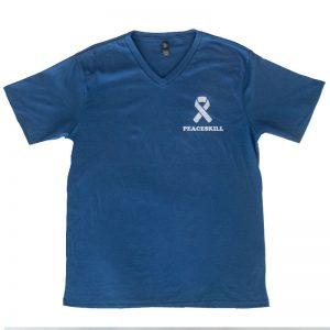 peaceskill shirt design. frontside with peaceskill logo on chest.
