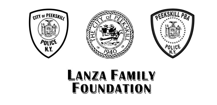 city of peekskill, lanza family foundation, and the city of peekskill police logos