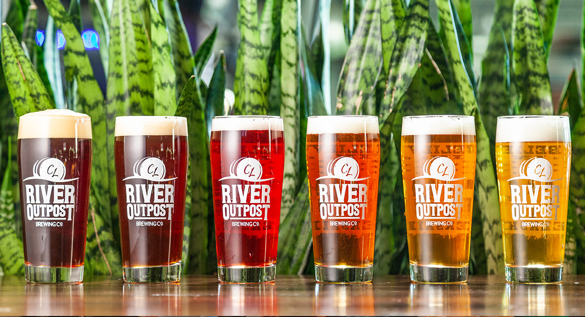 River Outpost Beer line up.
